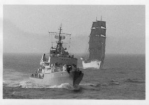 Treffen aller Schulschiffe vor Sardinien, Aufnahme von Bord SS Deutschland